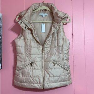 Rose gold sleeveless winter vest